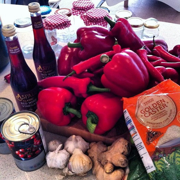 Chilli marmalade ingredients