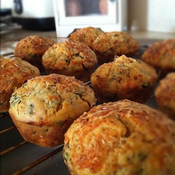 Spinach, Feta & Tomato Savoury Muffin