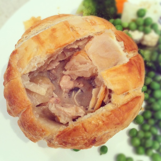 Charlie Bigham's chicken and mushroom pie