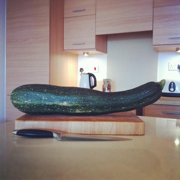Big courgette (or zucchini)