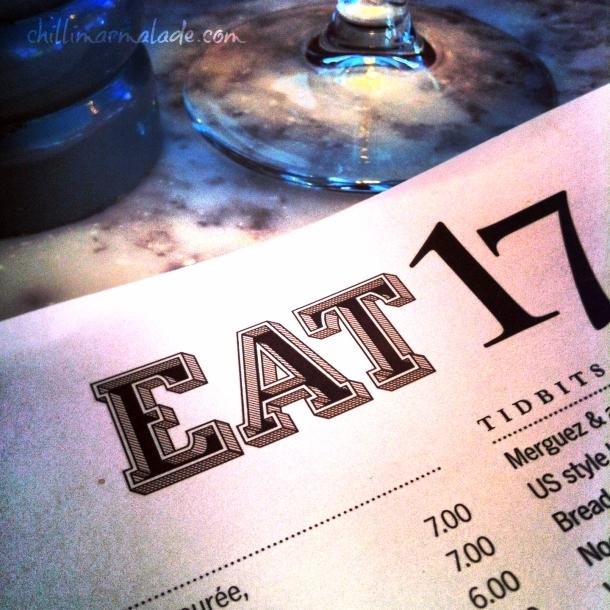 Eat 17 menu