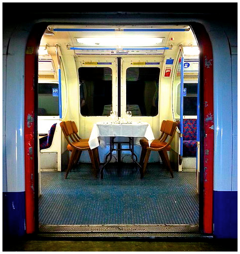 Dinner on the Tube London