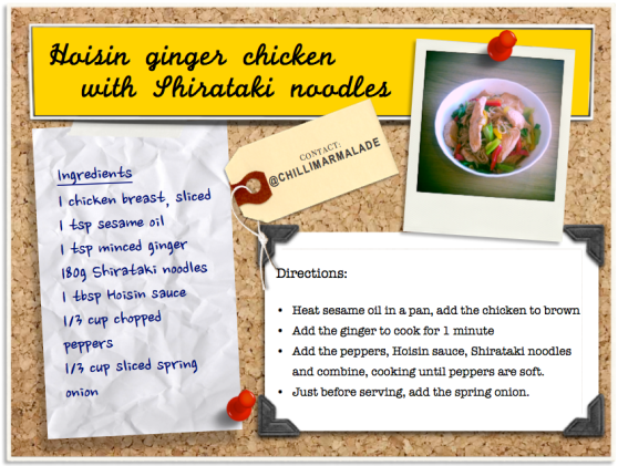 Hoisin chicken Shirataki noodles