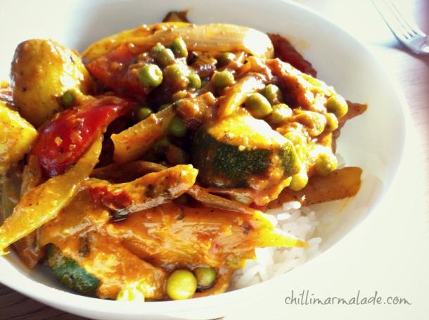 vegetarian curry 5:2 meal idea