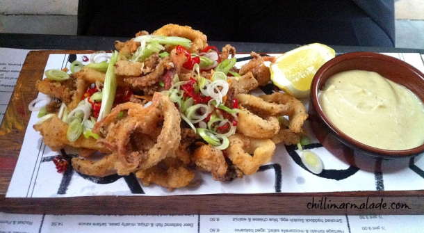 salt and pepper squid fish market london
