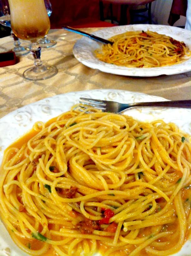 Spaghetti con Ricci di Mare at Trattoria Ferdinando III