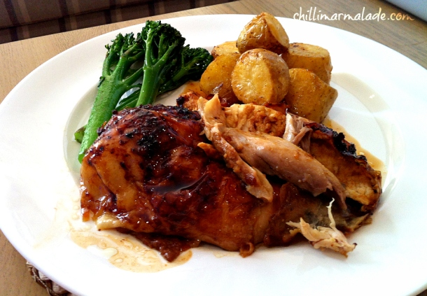 Glazed roast chicken recipe
