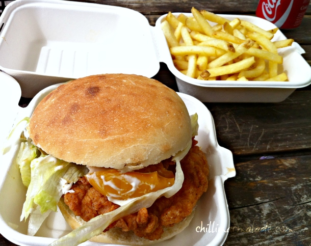 Mother Clucker fried chicken burger pop-up food truck London