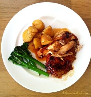 British classic: Glazed roast chicken
