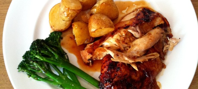Glazed roast chicken recipe