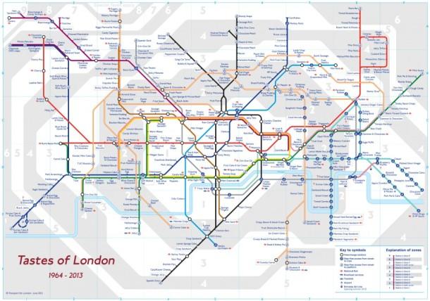 London Underground tube map taste