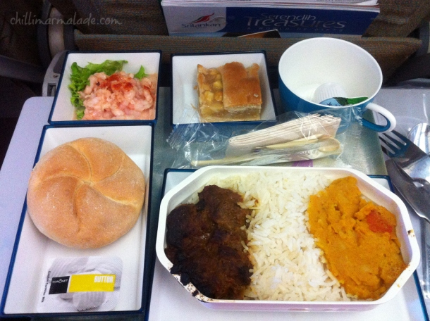 Sri Lankan Airlines food meal menu