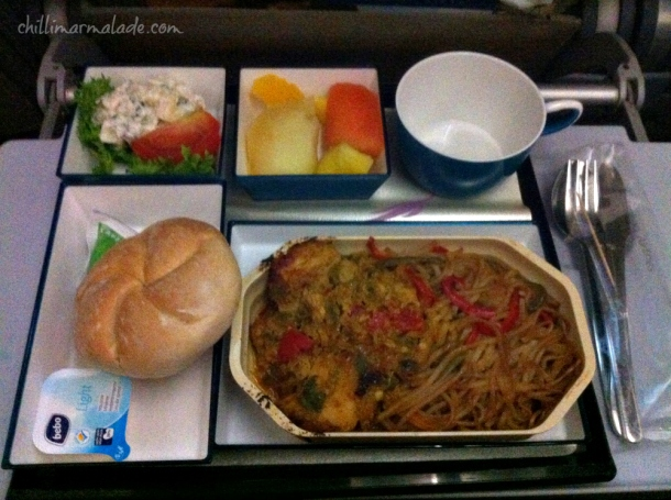 Sri Lankan Airlines light meal option