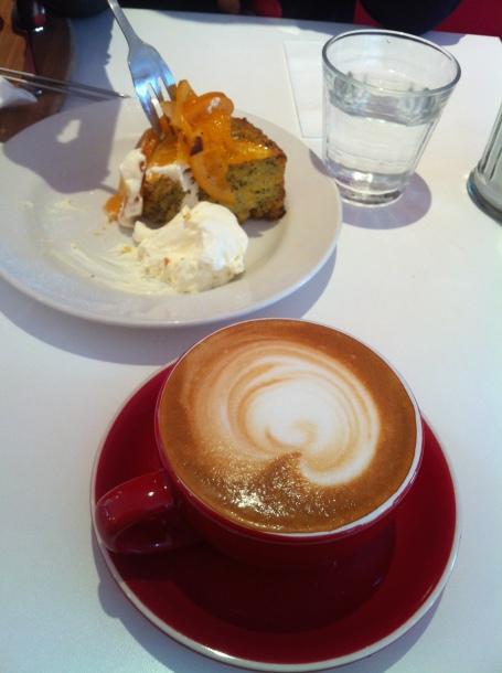 Orange Almond Cake Tracks Cafe New Town