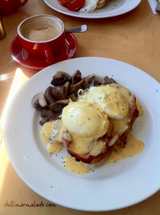 Eggs Benedict Tracks Cafe