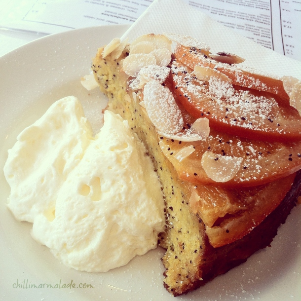 Orange and Almond Cake Tracks Cafe